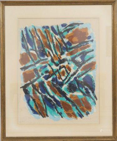 """""""L'Hiver"""" de Jean Le Moal (1909-2007) Artiste peintre français Lithographie [...]"""
