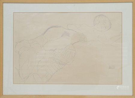 Gustav Klimt (1862-1918) Célébre artiste peintre autrichien Ensemble de 6 [...]