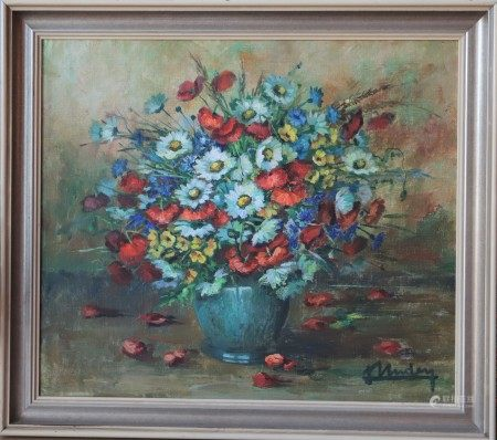 Nature morte de Lily Unden (1908-1989) Artiste peintre luxembourgeoise Huile sur [...]