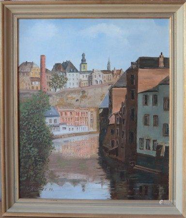 Victor Kremer (1900-1985) Artiste peintre luxembourgeois Huile sur toile encadrée, [...]