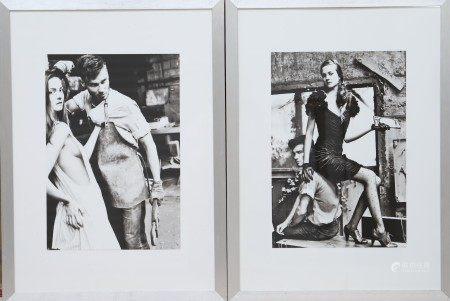 Ensemble de deux photos Photos monochrome encadrées sous verre. Epoque XXème [...]