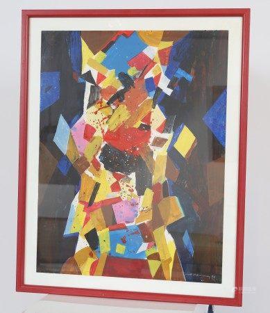 Mett Hoffmann (1914-1993) Artiste peintre luxembourgeois Gouache sur papier [...]