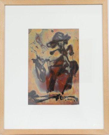 """""""Le nonchalant cavalier"""" d'Arthur Unger (né en 1932) Artiste peintre luxembourgeois, [...]"""