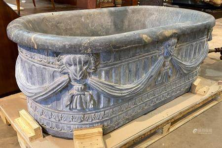 INCREDIBLE FRENCH CARVED STONE TUB