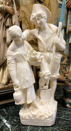 FINE FRENCH MARBLE STATUE