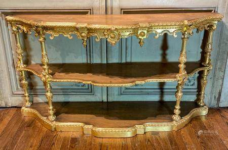 19TH C. ITALIAN CARVED GILTWOOD CONSOLE