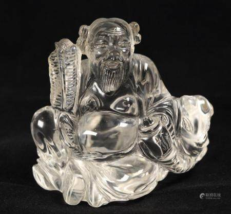 Chinese rock crystal carving, possibly 19th c.