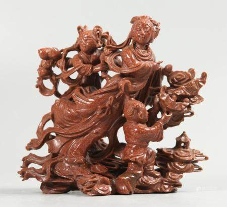 Chinese goldstone carving