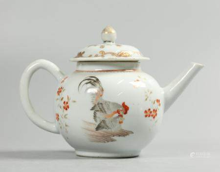 Chinese porcelain teapot, possibly 18th c.