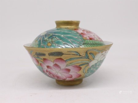 A Chinese Porcelain Bowl with Cover