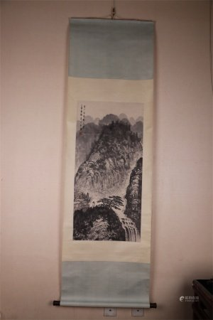 A Chinese Scroll Painting, Fu Baoshi Mark