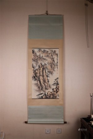 A Chinese Scroll Painting, Dong Shouping Mark