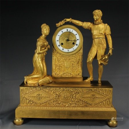 A French Gilt Bronze Clock