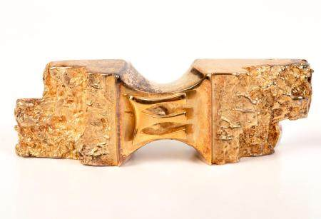 Judaica! Gold Medallion in a 'Mezuzah' Design