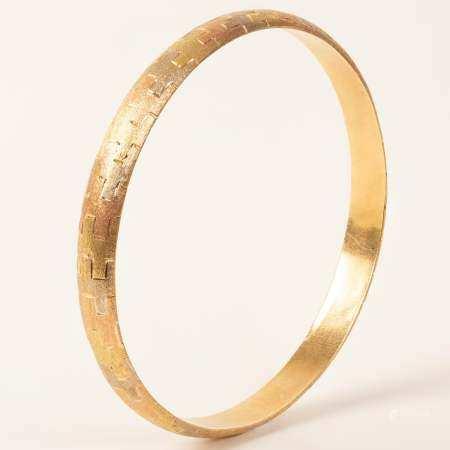 Handmade Stiff Gold Bracelet, 3 Colors