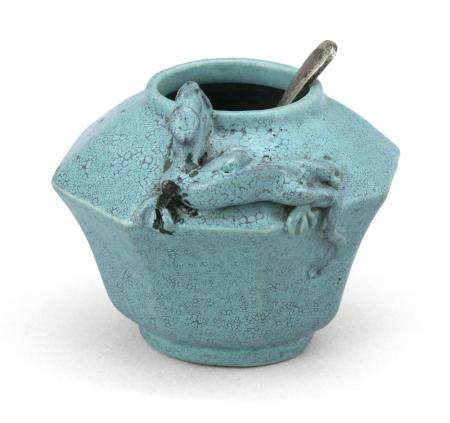 CHINESE ROBIN'S-EGG BLUE PORCELAIN WRITER'S COUPE In ovoid o