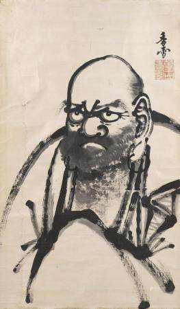 JAPANESE SCROLL PAINTING ON PAPER ATTRIBUTED TO KOETSU Fine