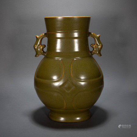 ANCIENT CHINESE BROWN-GLAZED AMPHORA