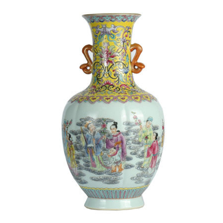 Qing Dynasty - Eight Immortals Patterned Vase