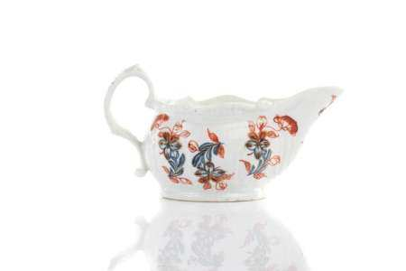 18TH C ENGLISH BLUE & WHITE SAUCE / BUTTER BOAT