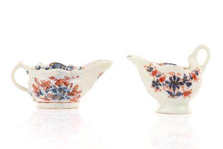 TWO 18TH C ENGLISH BUTTER BOATS