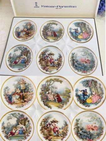 A Set of Porcelain Plates