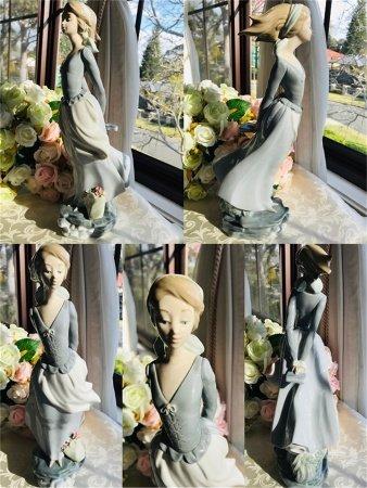 A Porcelain Figure Statue