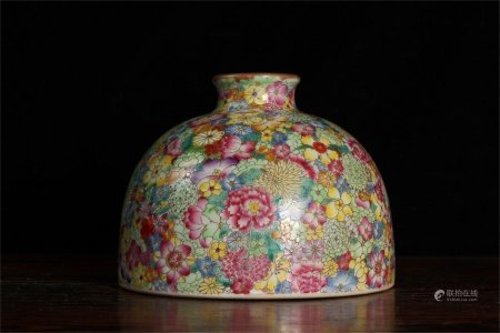 A Chinese Famille-Rose Porcelain Pot