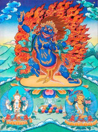 Tibetan Buddhist Two Armed Wrathful Mahakala