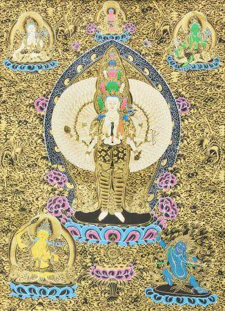 Thousand Armed Avalokiteshvara (Tibetan Buddhist Deity)