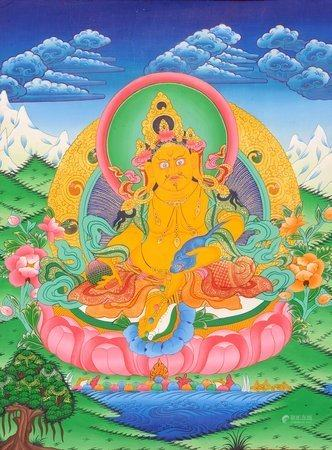 Kubera Tibetan Buddhist God of Wealth and Prosperity