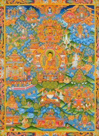 The Buddha Shakyamuni and the Events From His Life Tibetan Buddhist