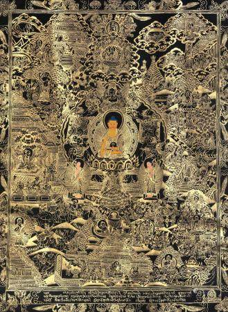 Master's Life on Canvas (Tibetan Buddhist)