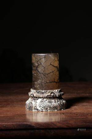 A CARVED CRYSTAL SEAL