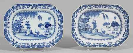 Paar Blauweiß-Platten
