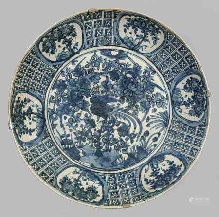 Große Blauweiß-Platte
