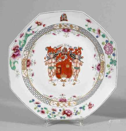 Famille rose-Wappenteller