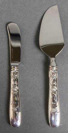 Tiffany & Co. Silver Cheese Knives, Set of 2