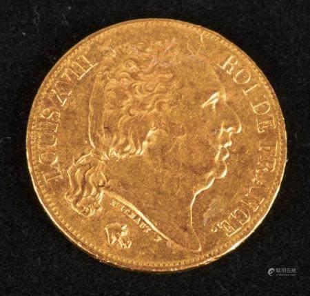 Louis XVIII,20 Francs, or