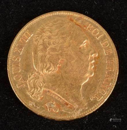 Louis XVIII, 20 Francs Or