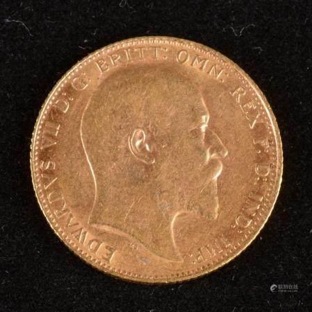 Souverain Edouard VII ,Or