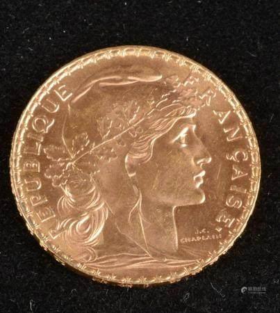 20 Francs Coq Marianne Or