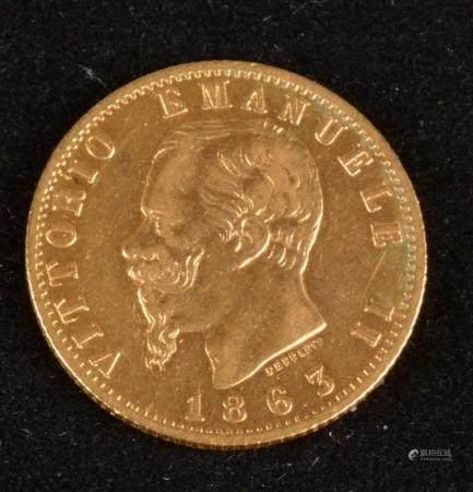 20 Lire OR Victor Emmanuel II