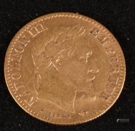 10 francs or Napoléon III, tête laurée