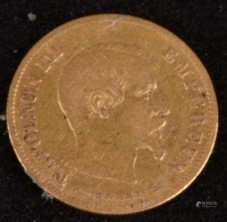 10 Francs Napoléon III, Tête nu