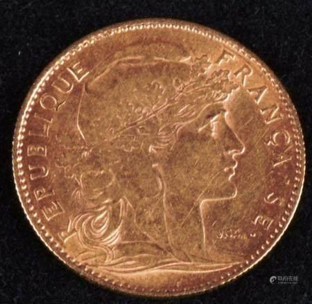 10 Francs Or ,Marianne IIIe République