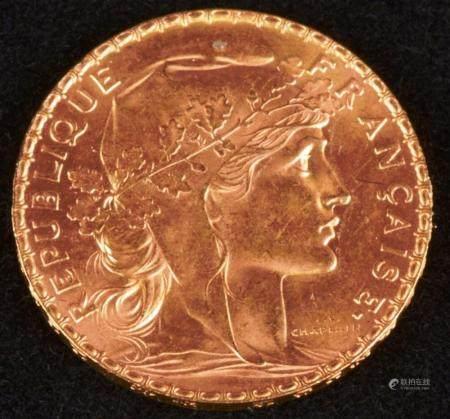 20 Francs Or Coq ,Marianne