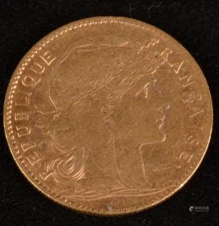 10 Francs Or - Marianne IIIe République