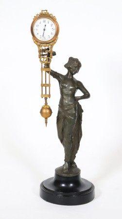 F. Iffland Egyptian Junghans German Pendulum Clock