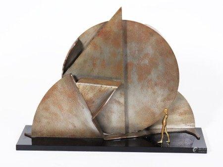 Ernest Trova Profile Canto '74 Steel Brass Acrylic